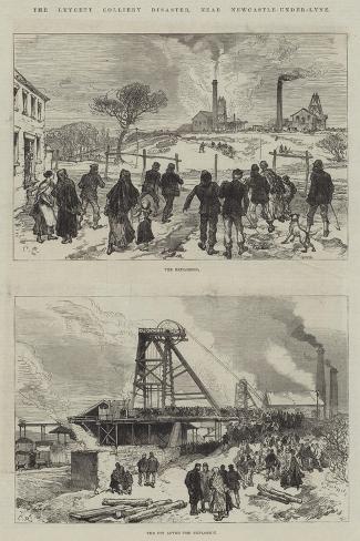 The Leycett Colliery Disaster, Near Newcastle-Under-Lyne Lámina giclée