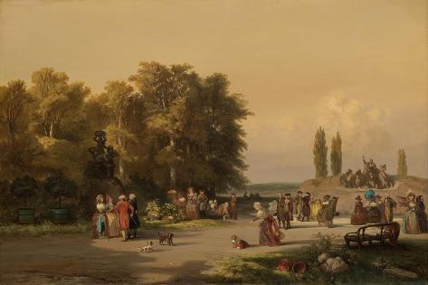 Park in the Vicinity of Paris Art Print