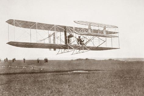 Charles Rolls Taking Off for His Non Stop Double Crossing of the English Channel, June 2nd 1910.… Stampa giclée