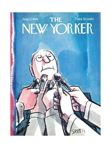 The New Yorker Cover - August 17, 1968 Premium Giclee Print