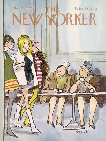 The New Yorker Cover - March 30, 1968 Stampa giclée premium