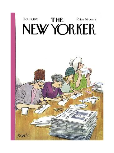 The New Yorker Cover - October 15, 1973 Premium Giclee Print