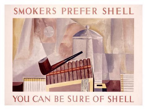 Smokers Prefer Shell Giclee Print