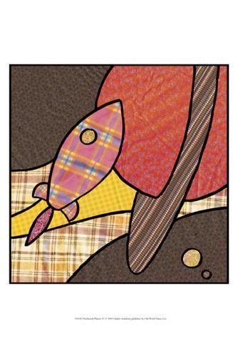 Patchwork Planets IV Framed Art Print