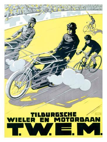 Verschuuren T.W.E.M. Cycling and Motor Race Giclee Print