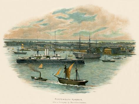 Portsmouth Harbour Giclee Print