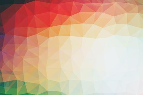 Abstract Vintage Polygonal Background Art Print
