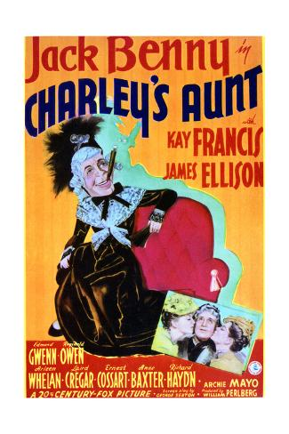Charley's Aunt - Movie Poster Reproduction Art Print