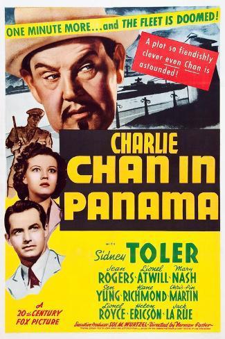 Charlie Chan in Panama Art Print