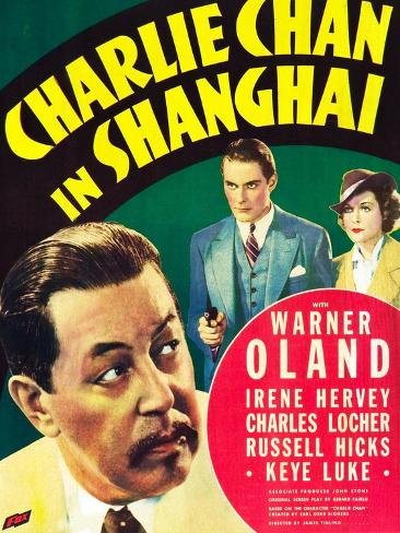 Charlie Chan in Shanghai Exklusivt gicléetryck