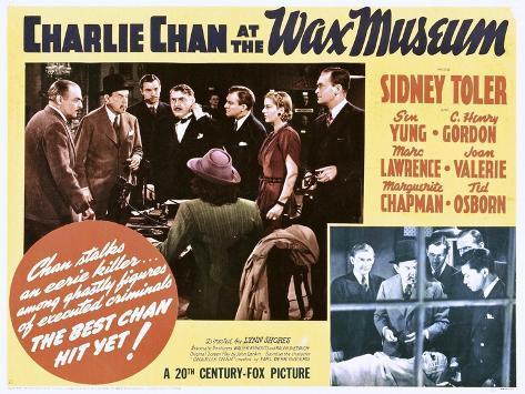 Charlie Chan no Museu de Cera Impressão artística