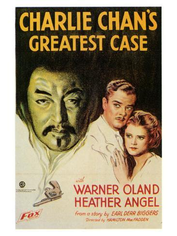 Charlie Chan's Greatest Case, 1933 Art Print