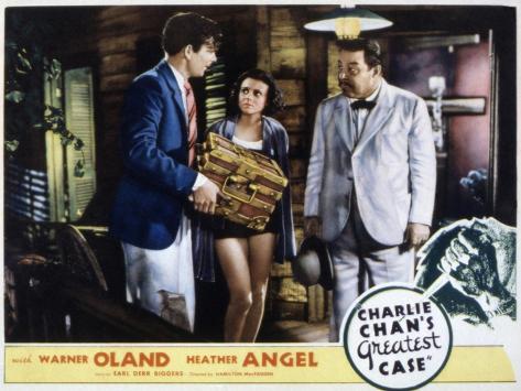 Charlie Chan's Greatest Case, Walter Byron, Heather Angel, Warner Oland, 1933 Fotografía