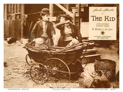 Charlie Chaplin in The Kid Art Print