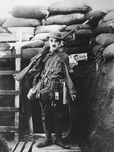 Charlie Chaplin, Shoulder Arms, 1918 Photographic Print