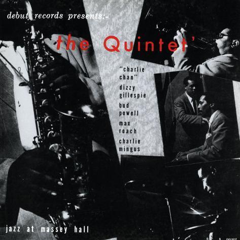 Charlie Parker Quintet - Jazz at Massey Hall Art Print