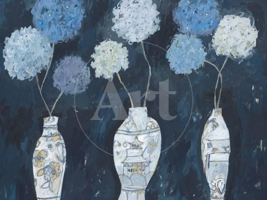 Hydrangeas And Chinese Vases Giclee Print By Charlotte Hardy At