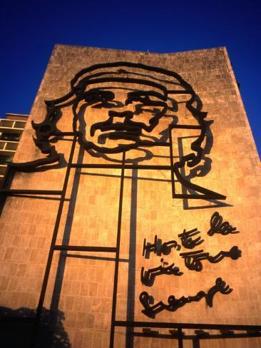 Sculpture of Che Guevara in the Plaza De La Revolucion, Havana, Cuba Photographic Print