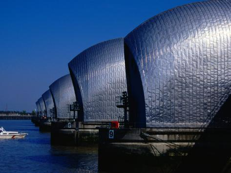 The Thames Barrier, London, United Kingdom Photographic Print