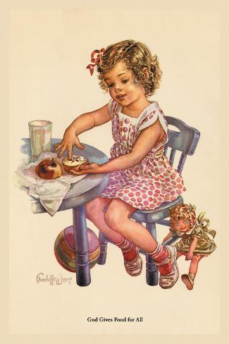 God Gives Food for All Vinilo decorativo