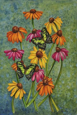 Monarchs and Sunflowers Giclee Print