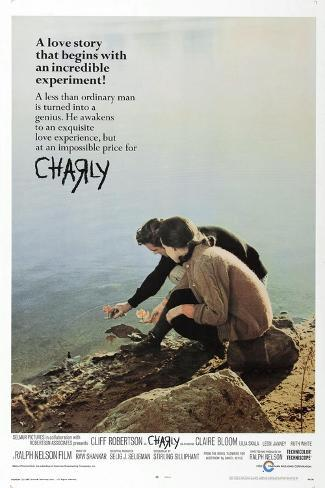 Charly, US poster, Claire Bloom, Cliff Robertson, 1968 Art Print