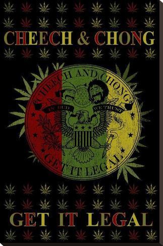 Cheech and Chong - Get It Legal キャンバスプリント