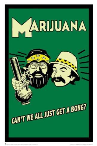 Cheech and Chong - Marijuana Retro Pôster