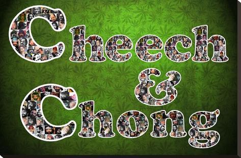 Cheech and Chong Mosaic Logo Movie Poster Impressão em tela esticada