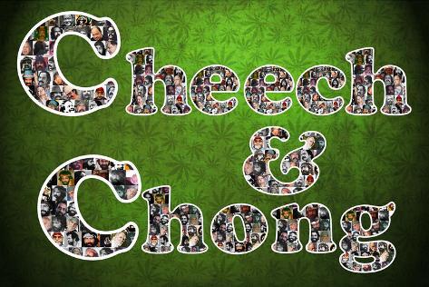 Cheech and Chong Mosaic Logo Movie Poster Pôster