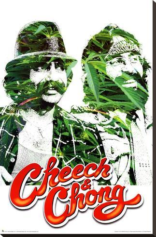 Cheech and Chong Pot Leaves Movie Poster Print Impressão em tela esticada