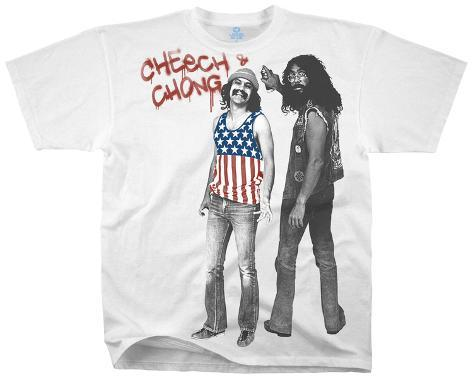 Cheech & Chong-American Stoners (Slim Fit) Camiseta