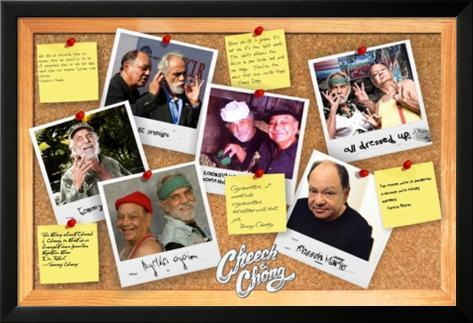 Cheech & Chong- Corkboard Diaries Lamina Framed Poster