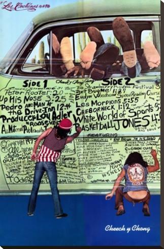 Cheech & Chong- The Pigs Grafitti Reproducción de lámina sobre lienzo