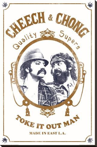 Cheech & Chong - Toke It Out Reproducción de lámina sobre lienzo