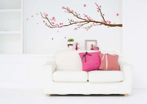Cherry Blossoms Wall Decal Sticker
