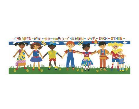 Children Love the World Art Print