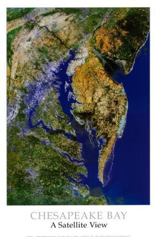 Chesapeake Bay from Space - ©Spaceshots Art Print