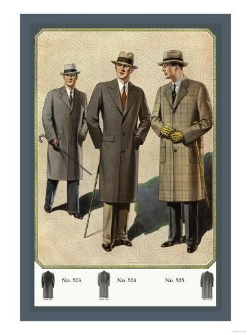 Chesterfield Fly-Front Overcoat Art Print