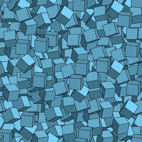 Seamless Vector Abstract Texture Art Print