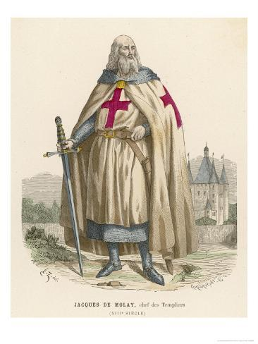 Jacques De Molay Grand Maitre Des Templiers Arrested and Burned by Philippe Iv Giclee Print