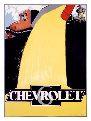 Chevrolet 6 Dump Truck Giclee Print