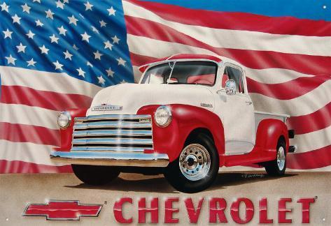 Chevy '51 Pick up Plåtskylt