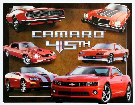 Chevy Chevrolet Camaro 45th Anniversary Tin Sign
