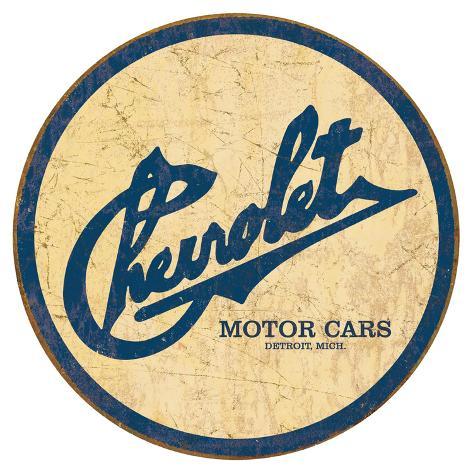 Chevy Historic Logo Tin Sign