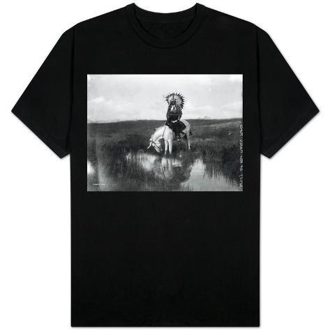 Cheyenne Indian, Wearing Headdress, on Horseback Photograph T-Shirt