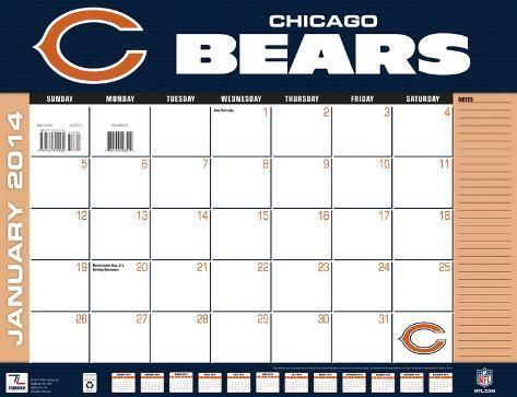 Chicago Bears - 2014 Desk Calendar Calendars