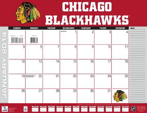 Chicago Blackhawks - 2014 Desk Calendar Calendars