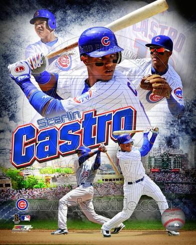 Chicago Cubs - Starlin Castro 2011 Portrait Plus Photo