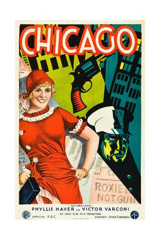 Chicago, Phyllis Haver on Swedish Poster Art, 1927 Giclee Print